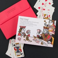 Unique Card Themed Invitation